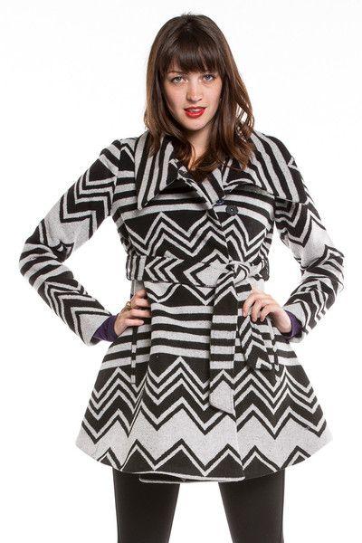 THIS PATTERN! So cute!! Loving this Jack by BB Dakota Emilia Coat. #BBDakota #Coat #Pattern