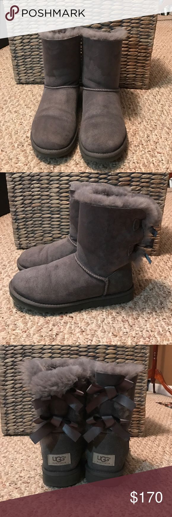 Grey UGG Boots Gently used . Color Grey . Feel free to make me an offer :) UGG Shoes Winter & Rain Boots