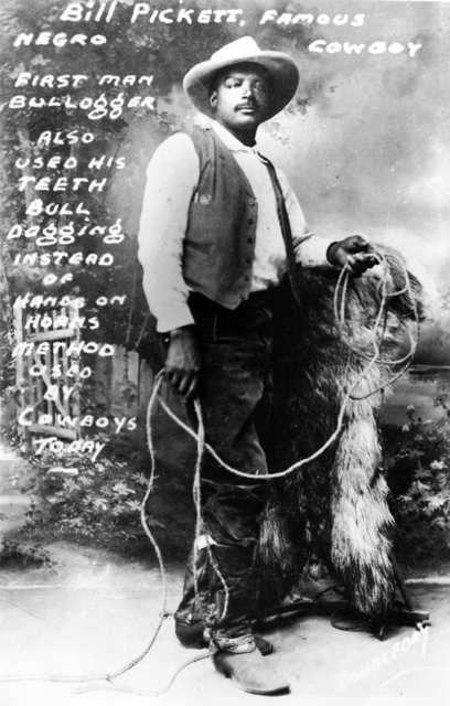 Bill Pickett, black cowboy