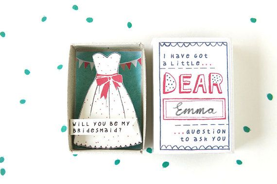 Will you be my bridesmaid - box by kimslittlemonsters.etsy.com