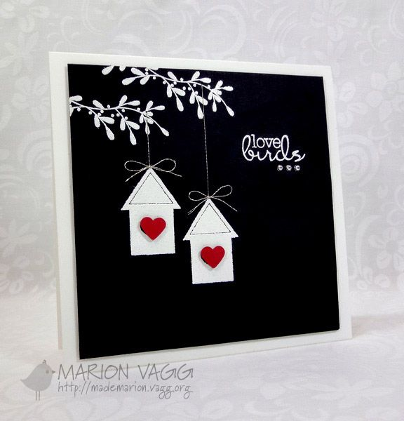 black fine ink for card stamping | Card: AnnaBelle Stamps smooth white card – square , black and red ...