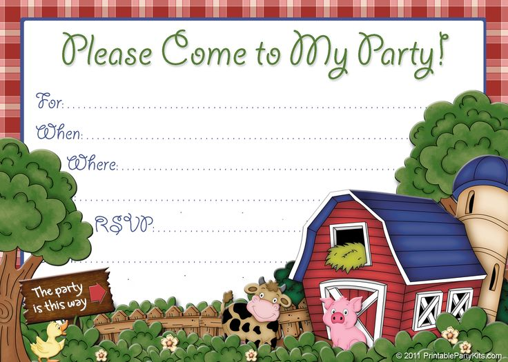 147 best invitations images on Pinterest Farms Farm party and
