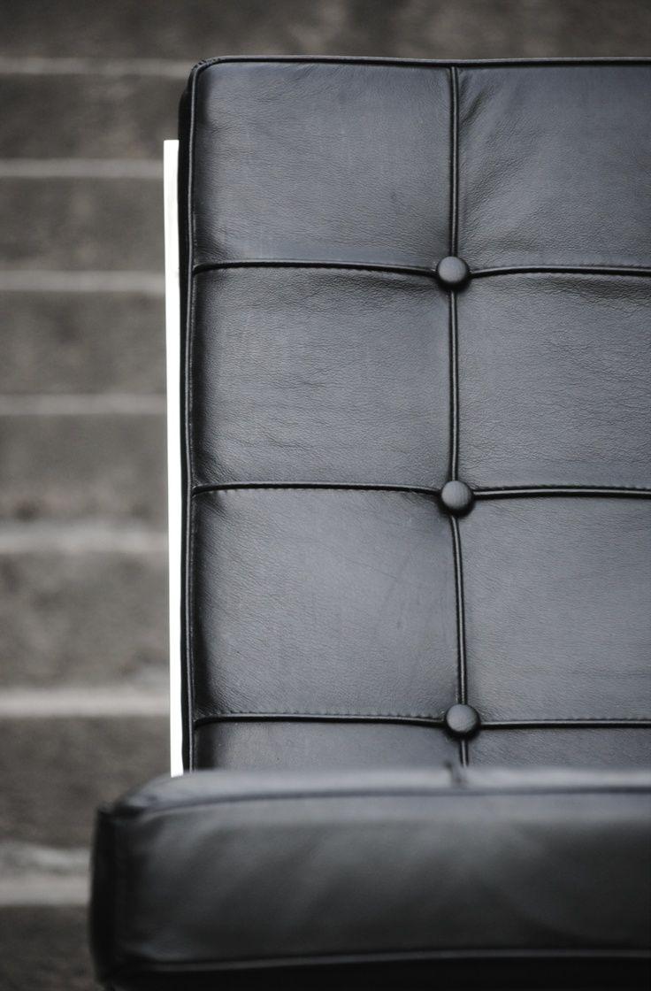 Black leather chair texture - Barcelona Chair Mies Van Der Rohe Popfurniture Com