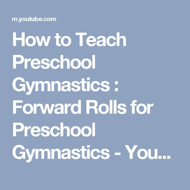 29 best coaching cheerleadinggymnastics images on pinterest how to teach preschool gymnastics forward rolls for preschool gymnastics youtube fandeluxe Image collections