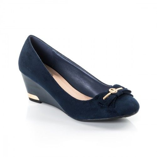 Promotie • Pantofi dama Ornella albastri cu platforma ortopedica