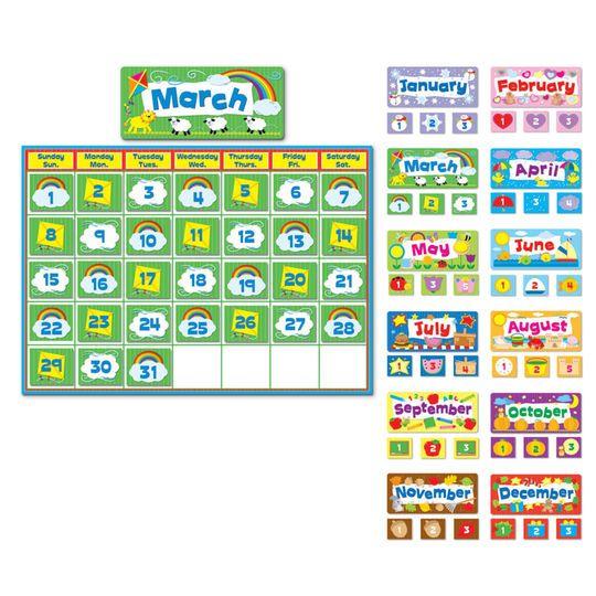 Complete Calendar Bulletin Board Set