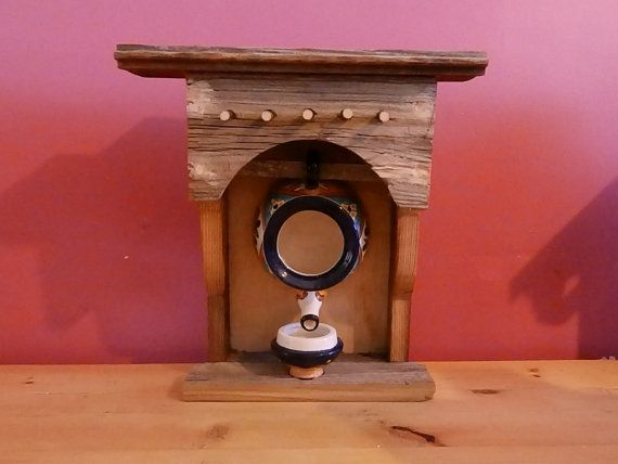 Southwestern barnwood teapot bird house by LittleMonkeyWoodshop, $50.00