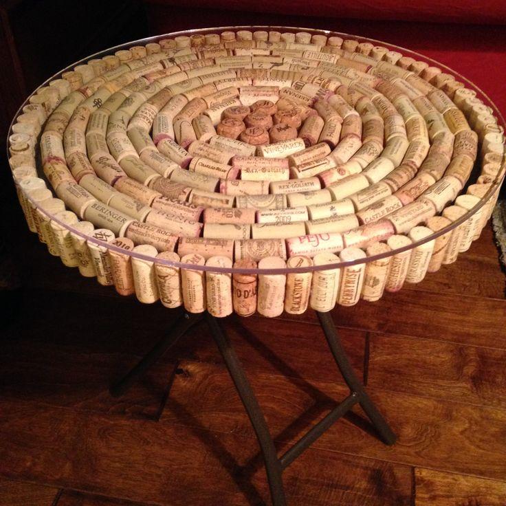 25 unique wine cork table ideas on pinterest cork table wine cork projects and wine cork crafts - Wine cork diy decorating projects ...