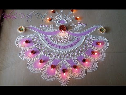 Beautiful New Rangoli Designs With Colours - For Festivals - Rangoli By Maya! - YouTube