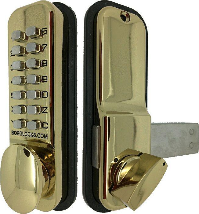 Borg Lock Digital Lock 3500 With Rim Deadbolt Brass - access control - digital locks - Digital Lock 3500 With Rim Deadbolt Brass - Timber, Tool and Hardware Merchants established in 1933