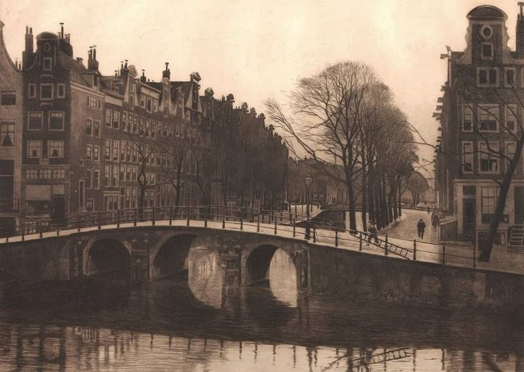 Willem Witsen (Dutch, 1860-1923), Leyden Canal (Amsterdam). Etching