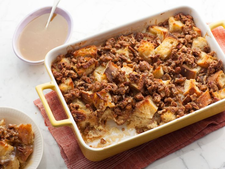 The Best Bread Pudding recipe from Paula Deen via Food Network. I made this, I wouldn't use so much sugar next time, but it was very good.
