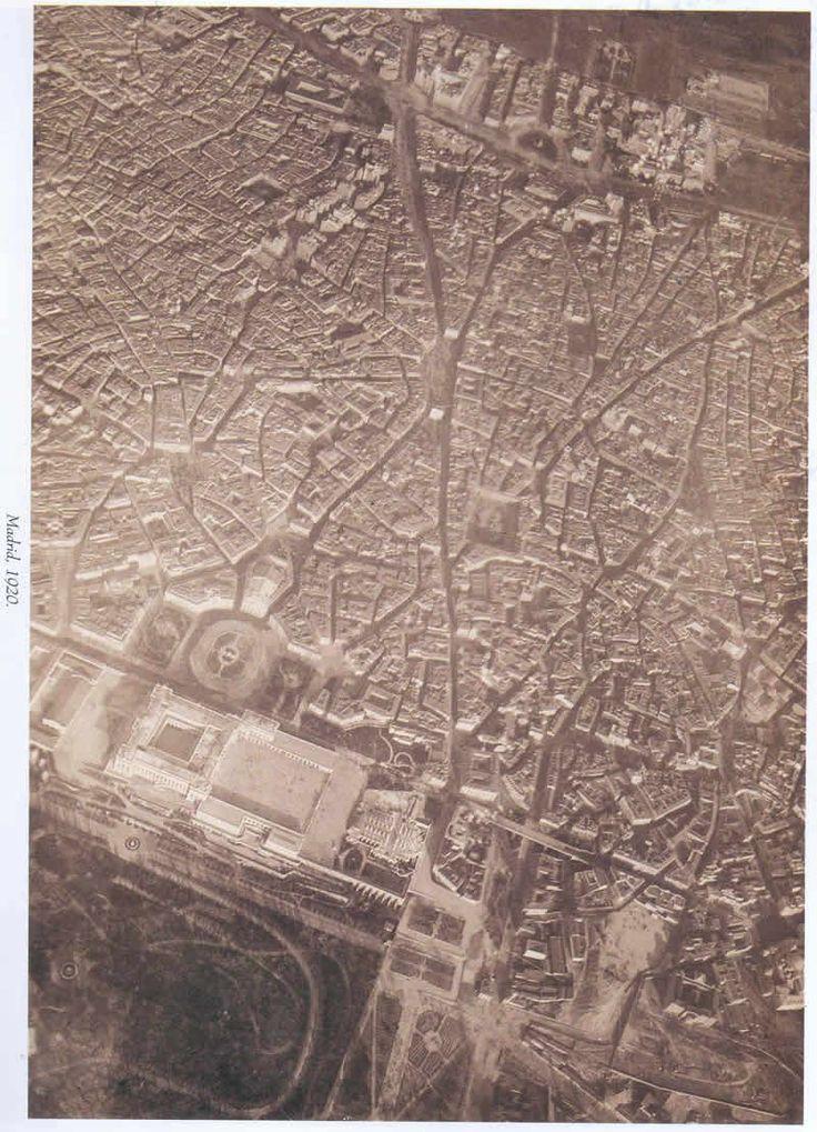 Vista aérea de Madrid en el año 1920.