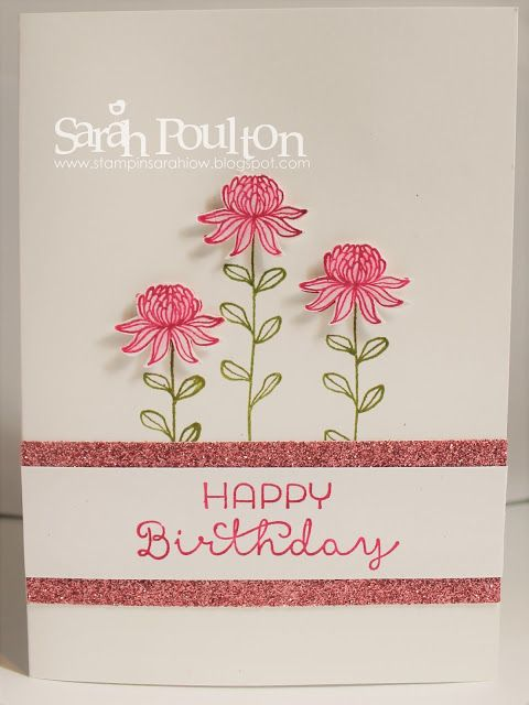 Stampin' Sarah!: A Flowering Fields Sale A Bration Birthday from Stampin' Up! UK Demonstrator Sarah Poulton