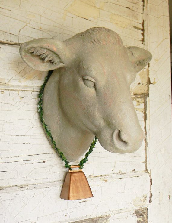 Cow Head Wall MountFaux Cow HeadFaux by ColorfulCastAndCrew
