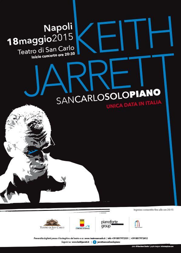 my #poster concerto Keith Jarrett #Naples Teatro di San Carlo (18 maggio 2015)  #mywork #jazz #music #graphicdesign #print #graphic  ©mimmarapicano