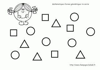 Le rond, Maths moyenne section, reconnaissance des formes géométriques