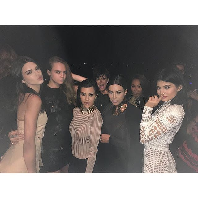 The Kardashian-Jenner Ladies Turn Heads at Balmain Designer's Birthday Bash: Balmain designer Olivier Rousteing marked his 30th birthday with an over-the-top bash in LA on Friday, and, of course, Kim and Kourtney Kardashian were on hand to celebrate.