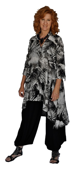 Lior feather print tunic: