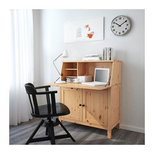 HEMNES Sekretär - hellbraun - IKEA