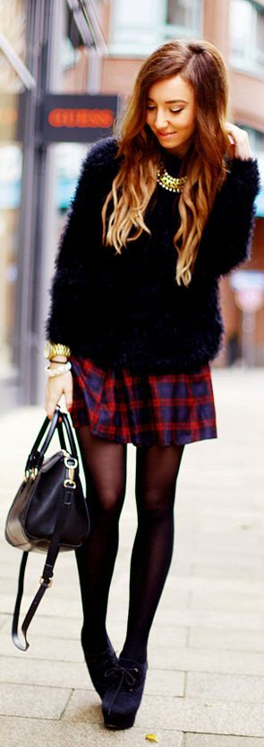 #Tartan #Skirt by Flirting With Fashion => Click to see what she wears