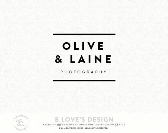 PreMade Customizable Simple Logo San Serif Font Name For Small Business,  Photography, Design,