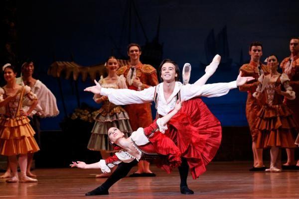 The Australian Ballet's Lana Jones and Daniel Gaudiello in Don Quixote. Photography Jeff Busby