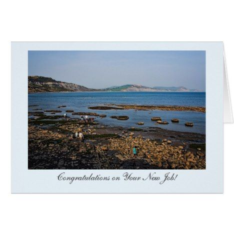 Fossil Coast Beach Congrats on Your New Job! Card - click/tap to personalize and buy