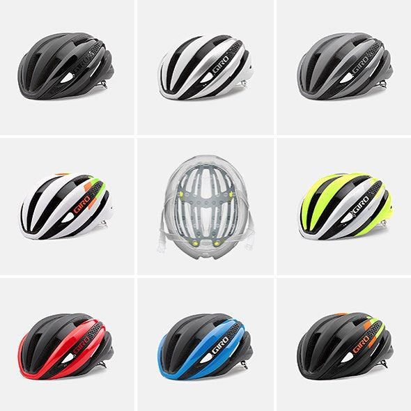 Complete your kit with a Synthe MIPS that matches your style. We're offering this new helmet in eight great colors. Coming in August are the Matte Black, Matte White/Silver, Bright Red/Matte Black, and White/Highlight Yellow. The rest can be yours in October. #GiroSyntheMIPS