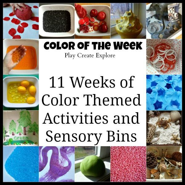 Color of the Week Series from Play Create Explore. 11 Weeks of Color Themed Activities and Sensory Bins! {Great idea for Tot School this Summer or Fall}!