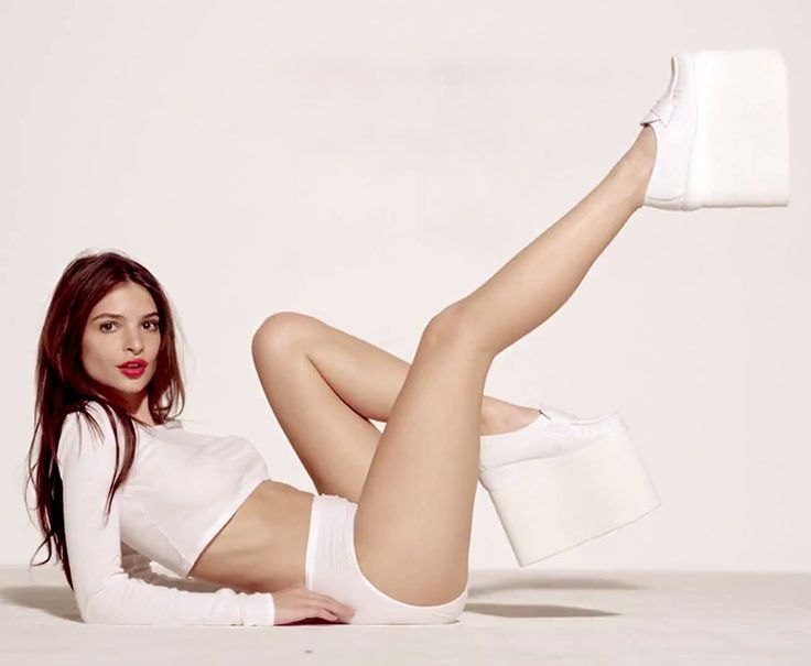 Emily Ratajkowski from Robin Thicke's Blurred Lines video- she's seriously gorgeous but I question her taste in footwear.
