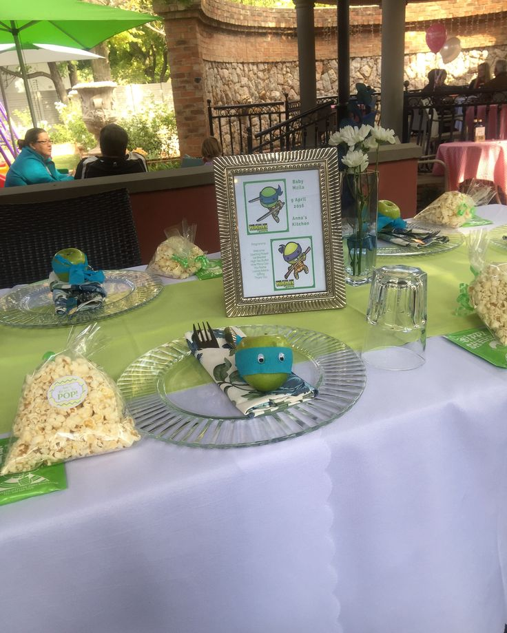Ninja Turtle inspired High Tea Baby Shower. Styled and Designed by @RosesPearlsZA