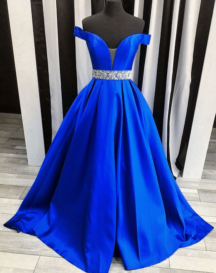 sexy off the shoulder satin ball gowns prom