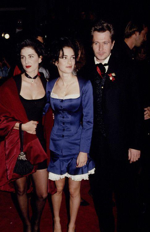 Sadie Frost, Winona Ryder, Gary Oldman. Bram Stoker's Dracula Premiere 1992.