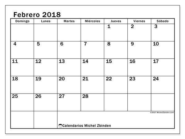 Calendario De 2018 Pdf