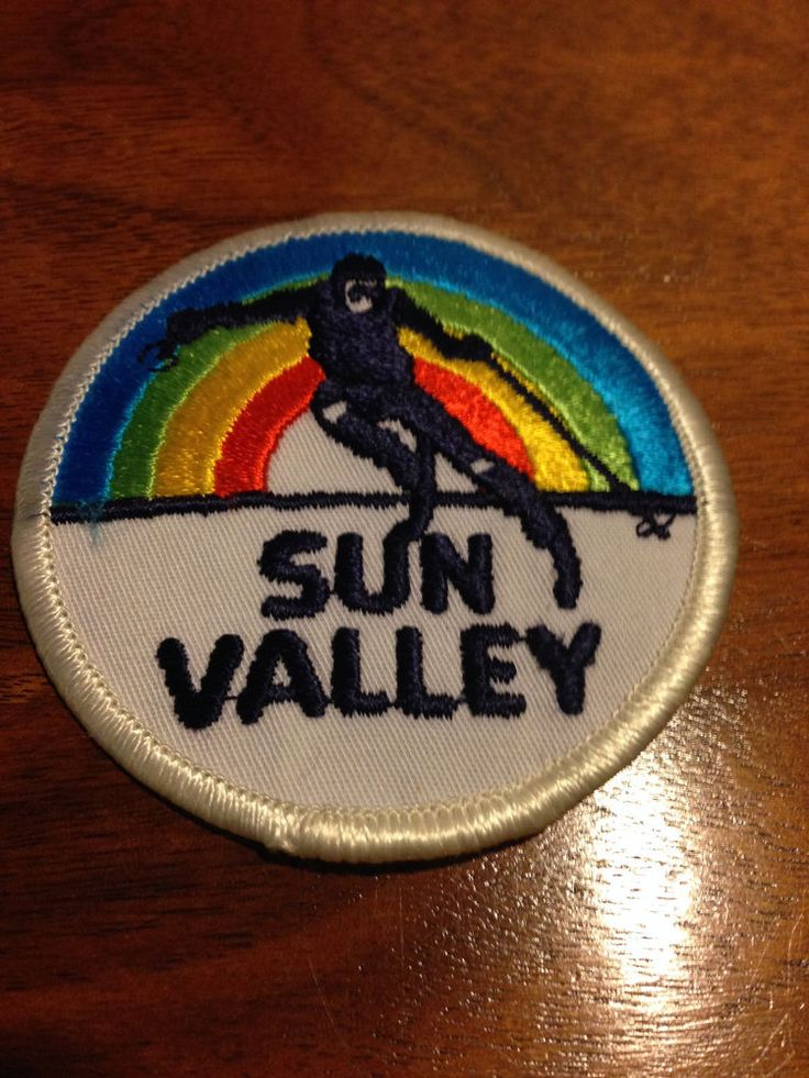 Vintage Sun Valley Ketchum Idaho Ski Skiing Travel Souvenir Patch