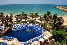 Hotel Marina El Cid Spa & Beach Resort, Riviera Maya!  We will be there in just a few weeks!  Can't wait for the twins to see the pool!