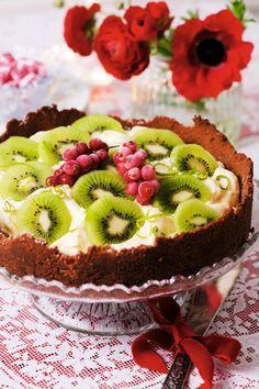 Glutenfri cheesecake med kiwi