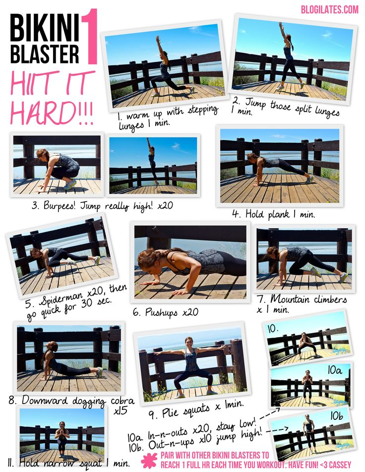 BIKINI BLASTER 1: Hiit it Hard printable! Take this with you to the gym to burn maximal calories!