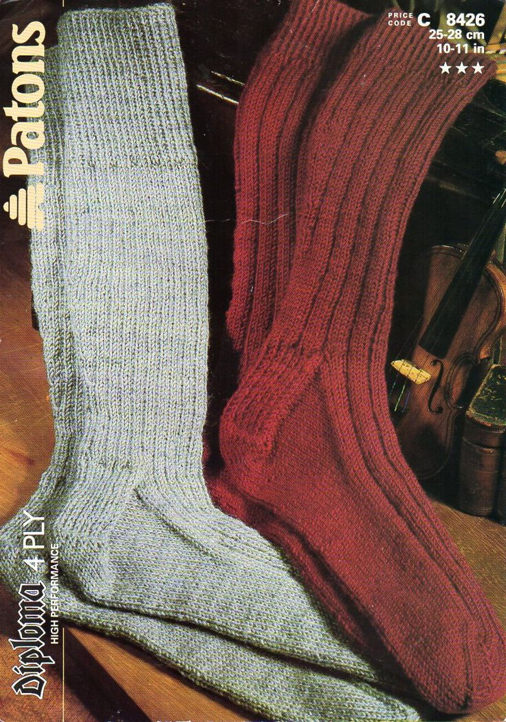 Mens Worsted Knit Sock Patterns