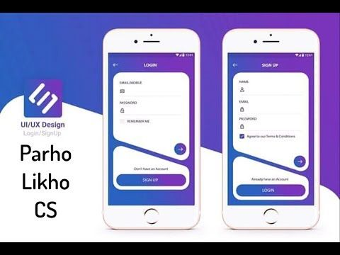 Android Design UI UX Awesome Login Sign up Layout Adobe XD