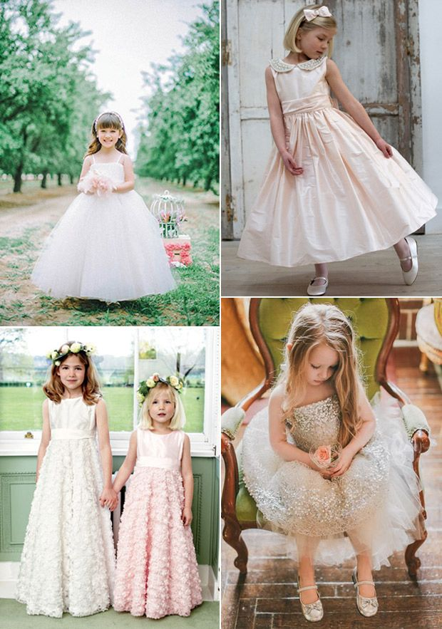 pretty flower girl dresses and inspiration