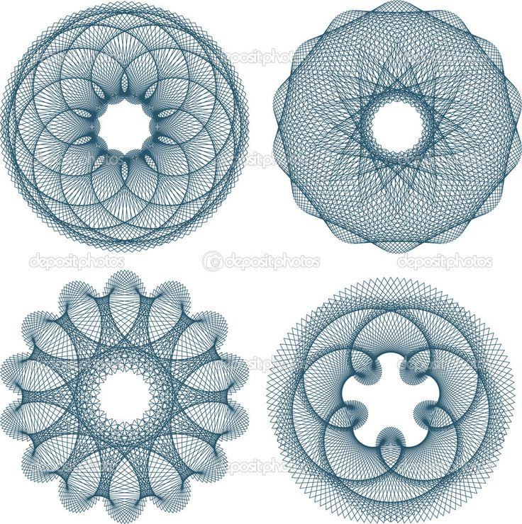 depositphotos_6038521-Set-of-guilloche-rosette.jpg (1017×1023)