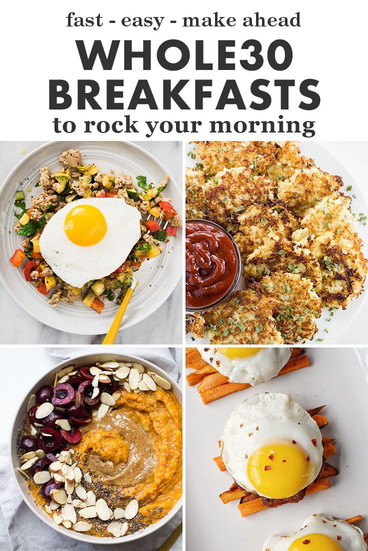 9 Easy, Fast, Make Ahead Whole9 Breakfast Recipes!  Paleo