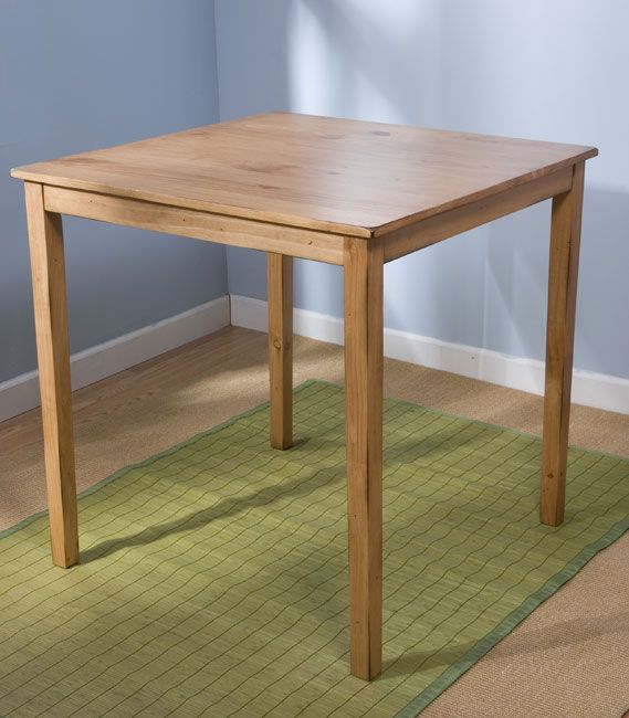 Add Rustic Charm To Your Home With This Shaker Style Pine Dining Table The Simplistic
