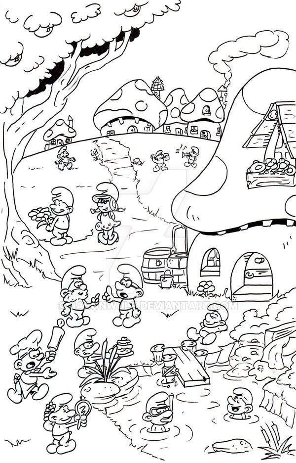 smurfs by jasonwulf with images coloring