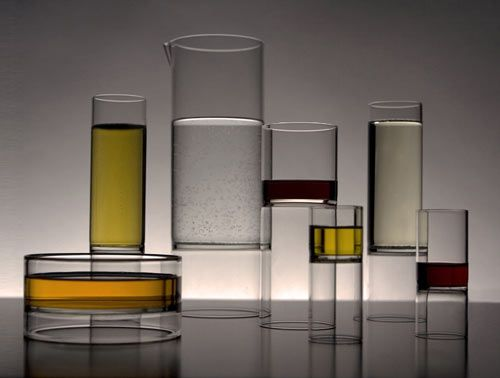 Revolution glassware designed by Chicago-based architect and designer Felicia Ferrone.