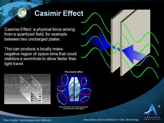 In quantum field theory, the Casimir effect and the Casimir-Polder force are physical forces arising from a quantized field. Description from andersoninstitute.com. I searched for this on bing.com/images