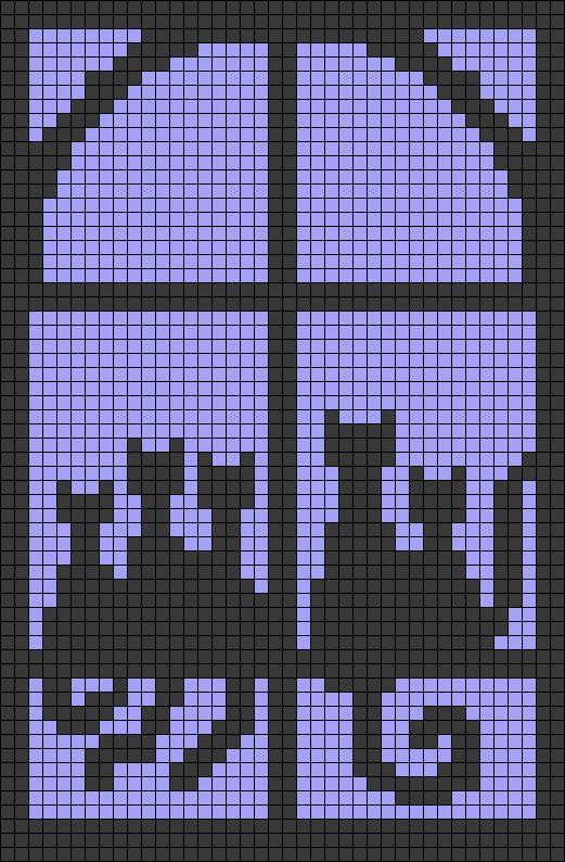Cats Window Perler Bead Pattern