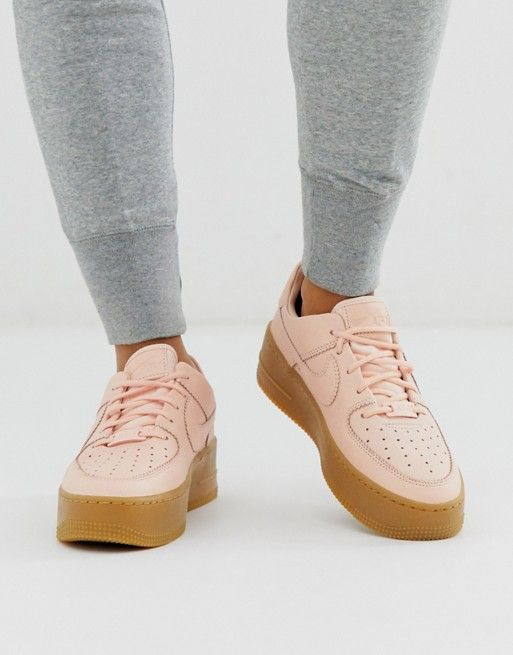 Nike pale pink gum sole air force 1